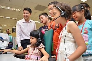 A day at 'work' for kids of OCBC staff