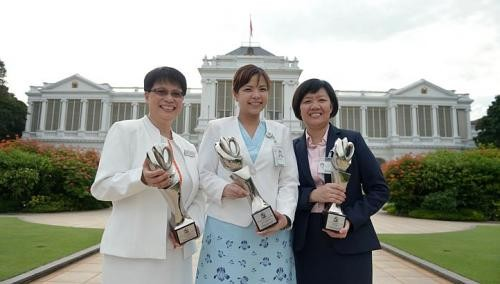 President's Award for 3 nurses
