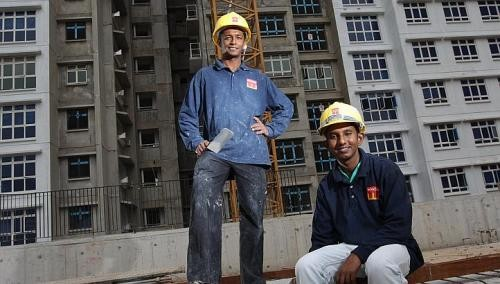 Sri Lankan construction workers taking time to adjust