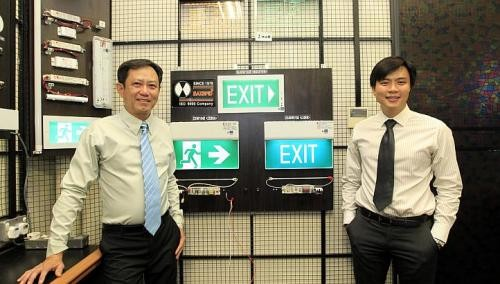 Father, son team lights up emergency sign business