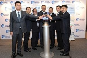 China water treatment firm opens int'l HQ in Singapore
