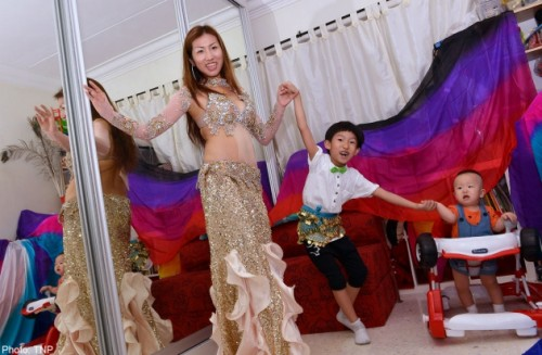 Woman finds her feet again in belly dancing