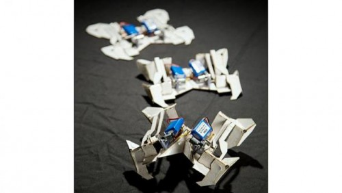 Robots inspired by origami can fold selves, walk away