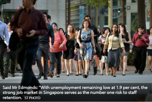 'Critical talent scarcity' among 3 issues facing S'pore employers: report