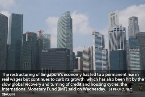 IMF: S'pore restructuring raises wages but curbs growth