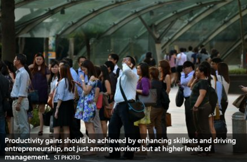 Call for shift in mindset to raise productivity in Singapore