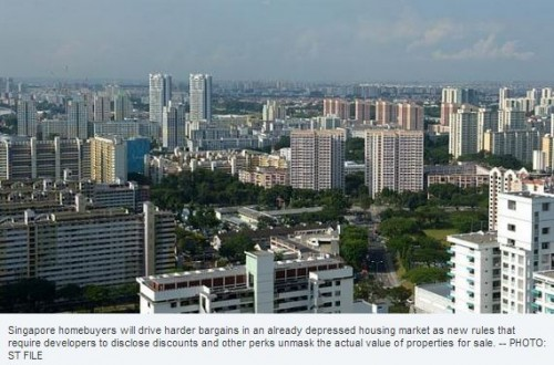 Singapore homebuyers will drive harder bargains on new discounts disclosure rules