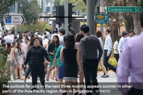Jobs outlook better elsewhere in region than S'pore