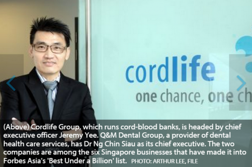 6 Singapore firms make it to Forbes Asia's 'Best Under a Billion' list