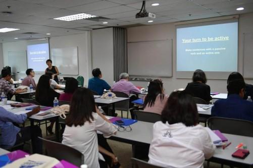 ST Masterclass teaches 50 professionals English skills