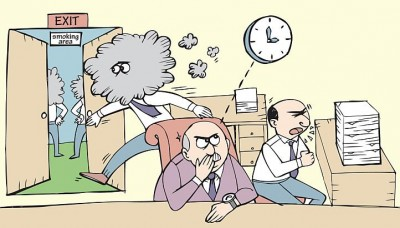Are smoking breaks at work justified?