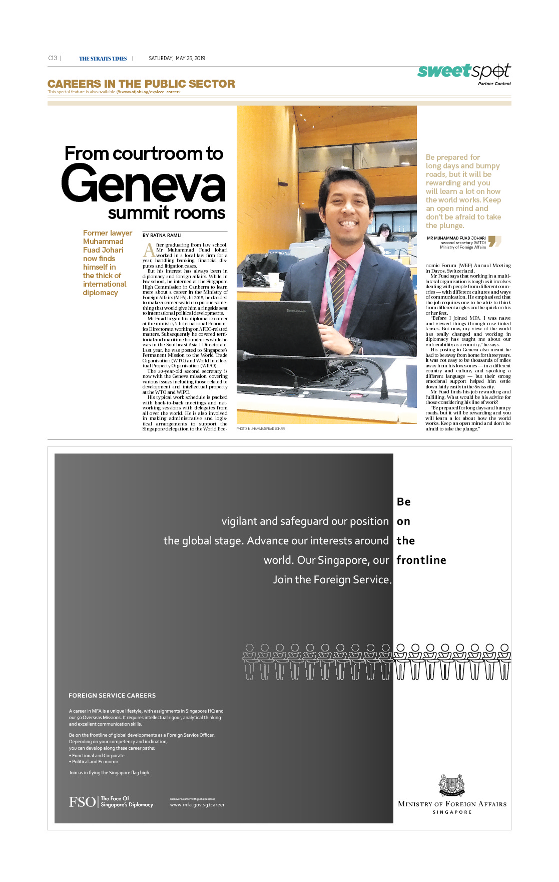 From courtroom to Geneva summit rooms