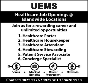 Healthcare Job Openings @ Islandwide Locations