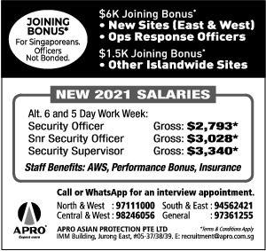 SECURITY POSITIONS AVAILABLE AT APRO